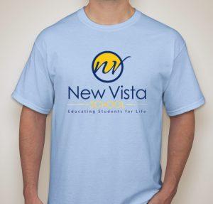 photo of new vista tee shirt