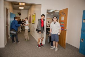photo of students in hallway